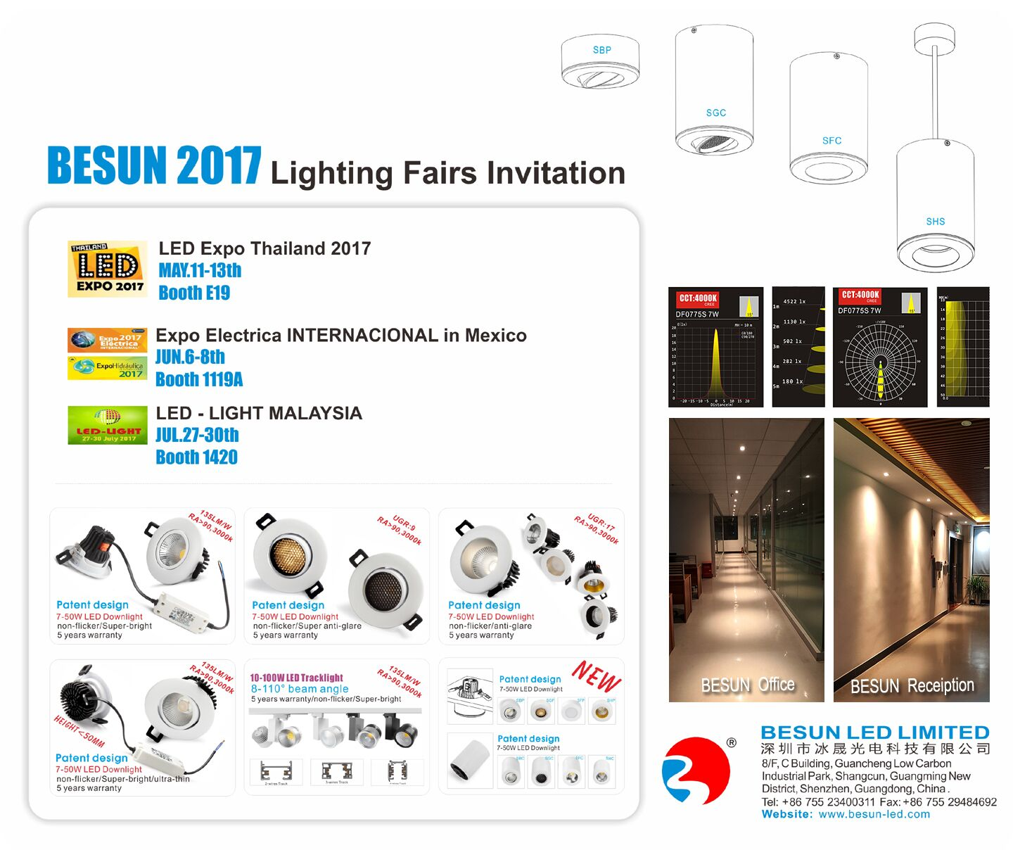 BESUN 2017 Lighting Fairs Invitation in Thailand, Mexico, Malaysia